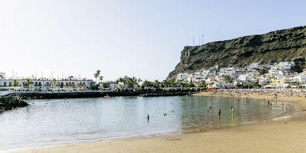 Stranden ved Radisson Blu Resort & Spa i Puerto de Mogán på Gran Canaria.