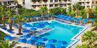Poolområde på Ramira Beach Mitsis hotels på Kos, Grækenland.