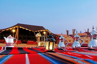 Tag med på Apollos udflugt; Ørkensafari, Ras Al Khaimah, De Forenede Arabiske Emirater.