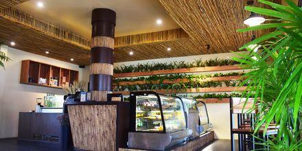 Café på Hotel Rawi Warin i Koh Lanta, Thailand.