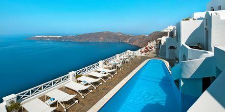 Poolen på hotel Regina Mare på Santorini, Grækenland.