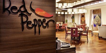 Red Pepper Restaurant på Hotel Rembrandt i Bangkok, Thailand.