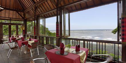 Restaurant på Respati Beach i Sanur på Bali, Indonesien.