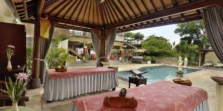 Massage på Respati Beach i Sanur på Bali, Indonesien.