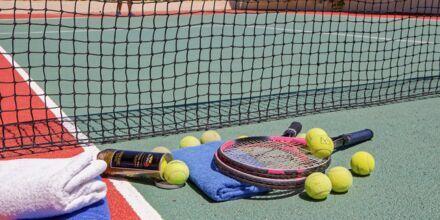 Tennis på Hotel Rethymno Mare Resort på Kreta, Grækenland.