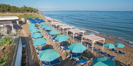 Stranden på Hotel Rethymno Mare Resort på Kreta, Grækenland.