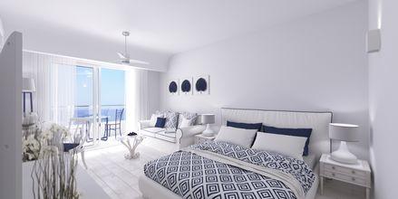 Dobbeltværelse på hotel Rethymno Palace i Rethymnon på Kreta, Grækenland.
