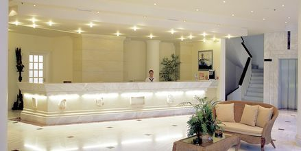 Reception på hotel Rethymno Palace i Rethymnon på Kreta, Grækenland.