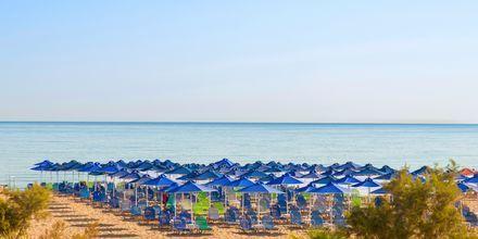 Stranden ved hotel Kriti Beach i Rethymnon på Kreta.