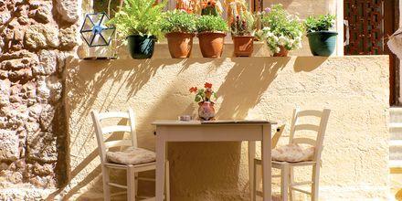 Restaurant i den gamle bydel i Rethymnon Kreta.