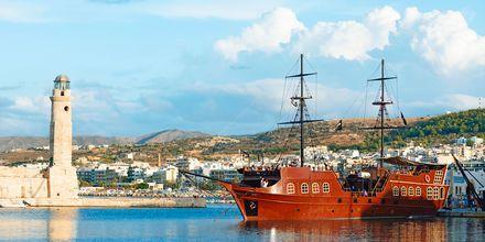 Den gamle havn i Rethymnon by på Kreta, Grækenland.