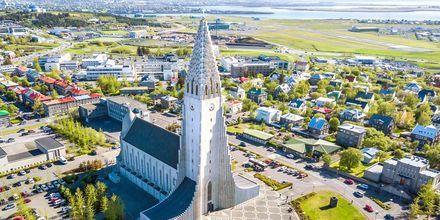 Hallgrimskirkja i Reykjavik, Island