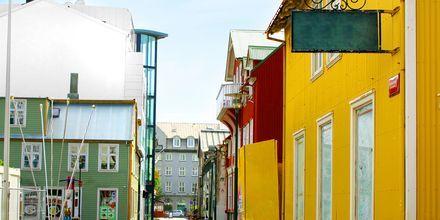Gade i Reykjavik på Island.