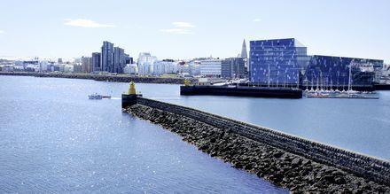 Reykjavik med det kendte operahus Harpa.
