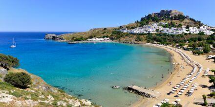 Strand på Rhodos i Grækenland.