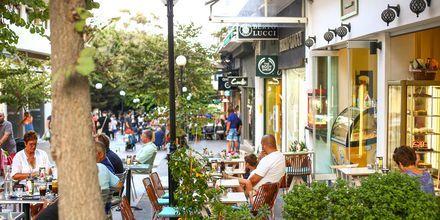 Den moderne del Rhodos by, Rhodos i Grækenland.