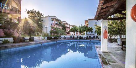 Poolområdet på Hotel Rigas, Skopelos.