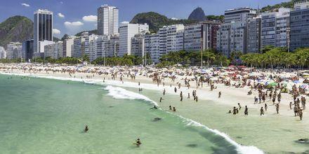 Copacabana stranden i Rio de Janeiro.