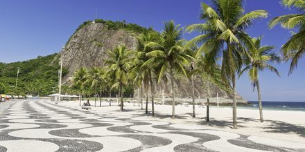 Strandpromenaden i Copacabana.