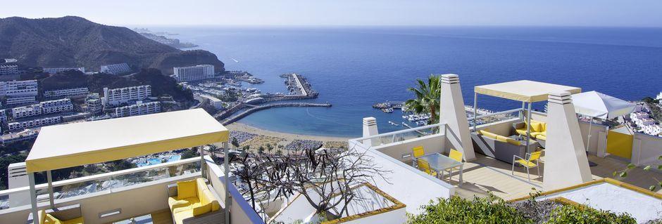 Udsigt fra Riosol i Puerto Rico på Gran Canaria