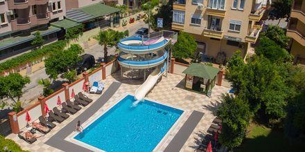 Poolområde på Riviera Apart i Alanya, Tyrkiet