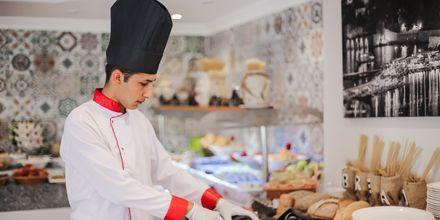 Buffetrestaurant på Hotel Riviera Apart i Alanya, Tyrkiet.
