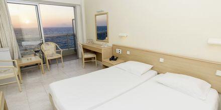 Dobbelt-/enkeltværelse på Hotel Riviera på Rhodos, Grækenland.