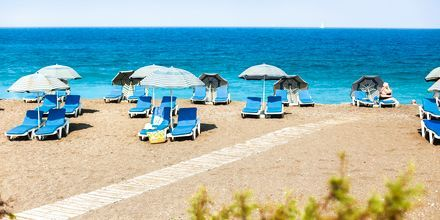 Windy Beach - perfekt til wind- og kitesurfing ved Rhodos by, Rhodos i Grækenland.
