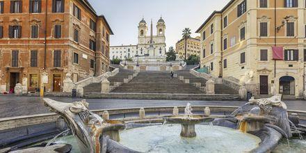 Den Spanske Trappe i Rom.