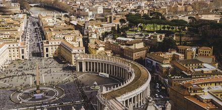 Vatikanstaten i Rom set fra oven.