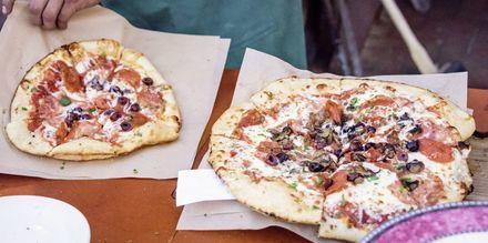 Italiensk pizza i Rom.