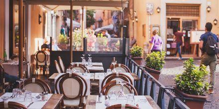 Der er fuld af gode restauranter i Rom...