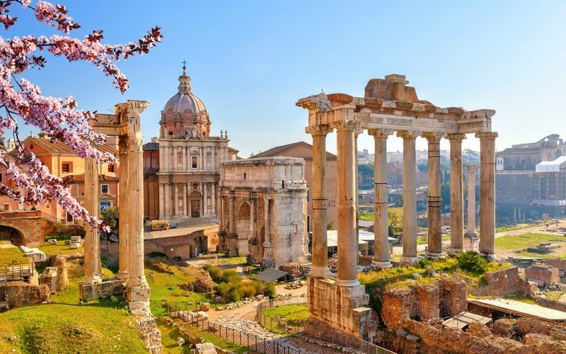 Forum Romanum i Rom, Italien.