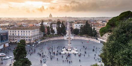 Piazza del Popolo, et populært torv i Rom.