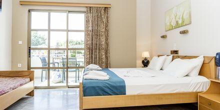 1-værelses lejlighed i strand-/poolbygningen på Hotel Rose i Kato Stalos på Kreta, Grækenland.