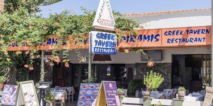 Restaurant på Hotel Rose i Kato Stalos på Kreta, Grækenland.