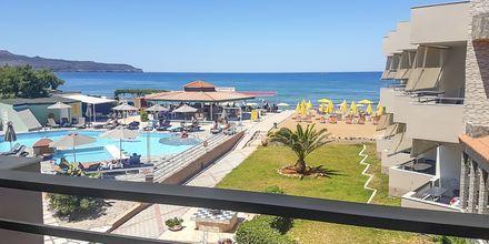 1-værelses lejlighed med havudsigt på Hotel Rose i Kato Stalos på Kreta, Grækenland.