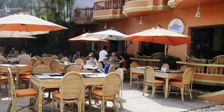Restaurant på Ruffles Beach Resort, Det Nordlige Goa, Indien.