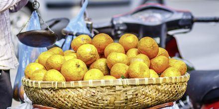 Frugtmarked i Saigon, Vietnam.