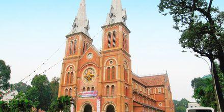 Den katolske katedral, Saigon i Vietnam.