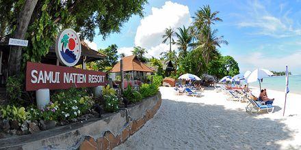 Stranden ved Hotel Samui Natien Resort på Koh Samui, Thailand