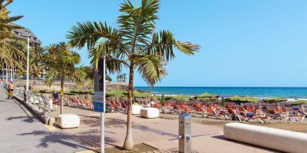 Strandpromenaden i San Agustin på Gran Canaria, De Kanariske Øer.