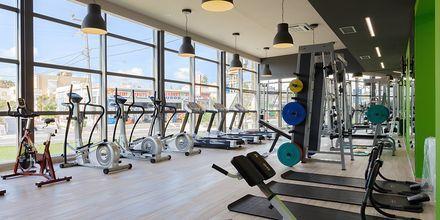 Fitnessfaciliteter på Hotel Santa Helena Beachi Platanias på Kreta, Grækenland.