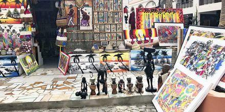 Gademiljø i Santa Maria by, Kap Verde