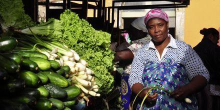Grøntsagsmarked på øen Sal, Kap Verde