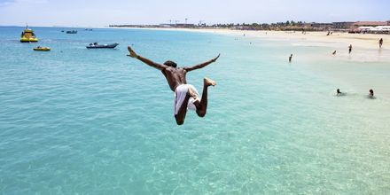 Udsprint fra molen i Santa Maria Beach på øen Sal, Kap Verde