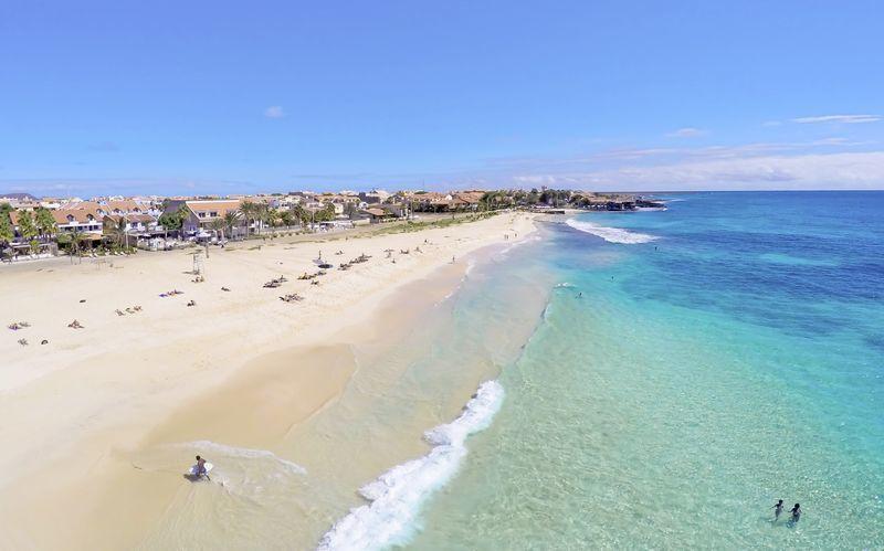 Stranden i Santa Maria på øen Sal, Kap Verde