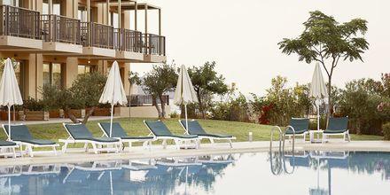 Relax-poolen på Santa Marina Beach i Agia Marina på Kreta, Grækenland