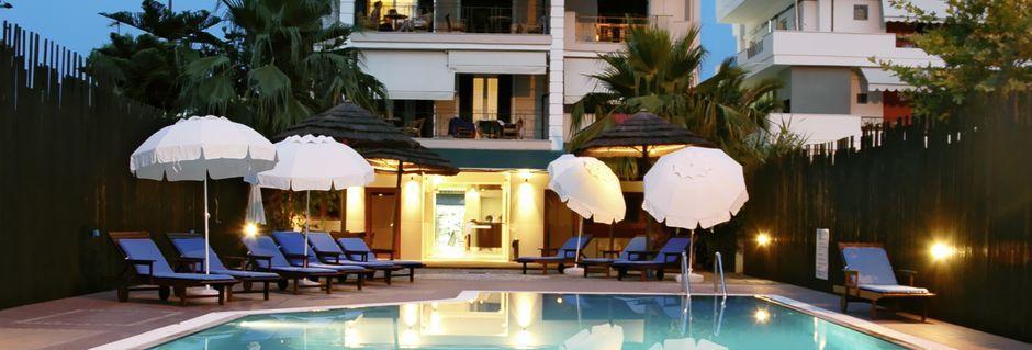 Poolen på Hotel Santa Maura på Lefkas, Grækenland.