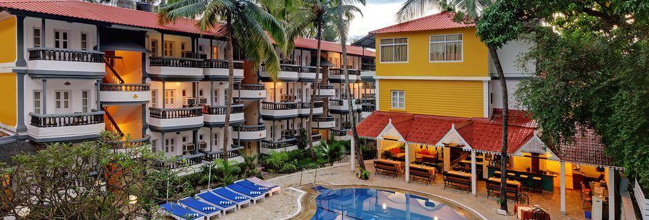 Poolområde på Hotel Santiago Goa, Det Nordlige Goa.